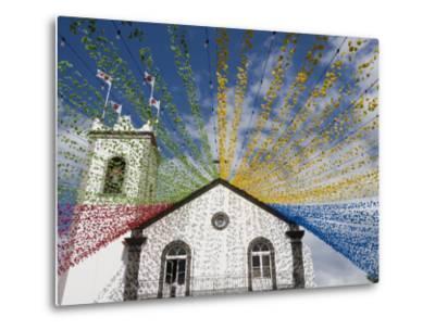 Ponta Delgada Church with Festival Decoration