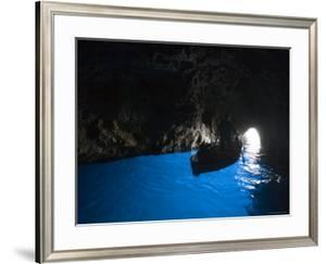 Rowboat Inside Blue Grotto by Holger Leue