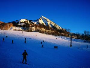 Skiers at Mt. Crested Butte, Crested Butte, Colorado by Holger Leue