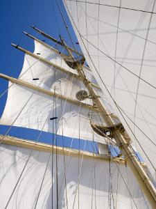 Star Clippers' Star Flyer Sailing Ship in the Aegean Sea by Holger Leue