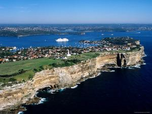 Sydney Heads and MS Europa, Sydney, New South Wales, Australia by Holger Leue