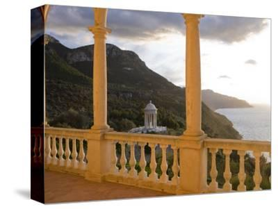 Terrace of Son Marroig Mansion and Gazebo at Sunset