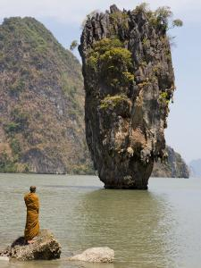 Thai Monk at Ko Phing Kan (James Bond Island) by Holger Leue