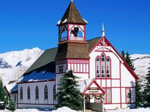 Union Congregational Church in Snow, Crested Butte, Colorado by Holger Leue