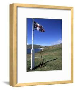 Union Jack British Flag, Falkland Islands by Holger Leue