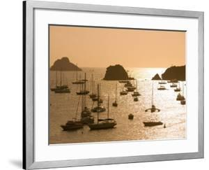 Yachts at Sunset, Gustavia, St. Barts by Holger Leue