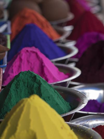 Holi Powder Paint for Sale in Mysore, Karnataka, India-David H^ Wells-Photographic Print