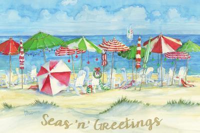 Holiday Beach Watercolor-Paul Brent-Art Print
