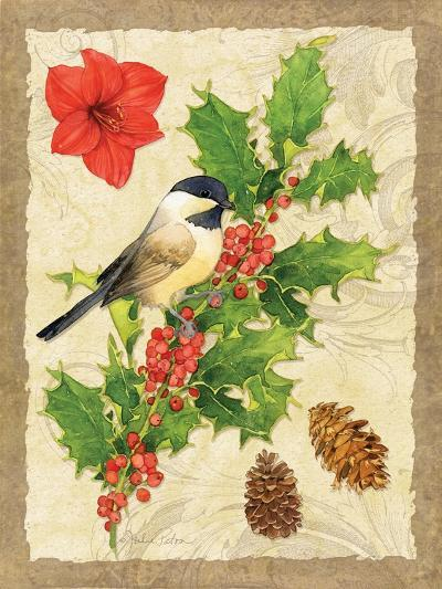 Holiday Chickadee-Julie Paton-Art Print