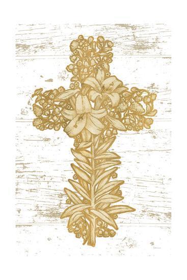 Holiday Cross I-Beth Grove-Art Print