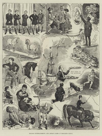 Holiday Entertainments, Our Artist's Notes at Hengler's Circus-Alfred Courbould-Giclee Print