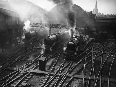 Holiday Expresses About to Leave King's Cross Station--Photographic Print