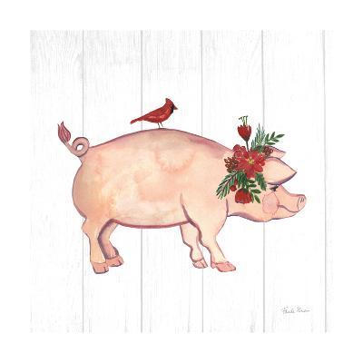 Holiday Farm Animals I-Farida Zaman-Art Print
