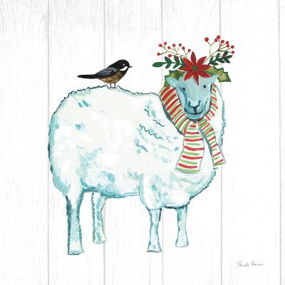 Holiday Farm Animals III-Farida Zaman-Art Print