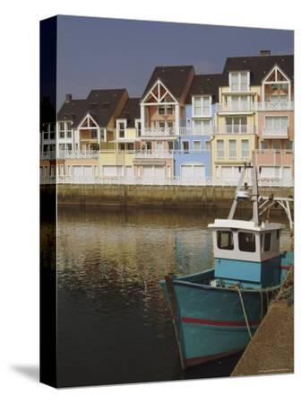 Holiday Flats Overlooking the Port, Deauville, Calvados, Normandy, France-David Hughes-Stretched Canvas Print