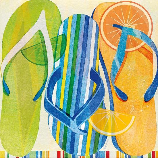 Holiday Flip Flops-Mary Escobedo-Art Print