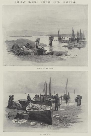 Holiday Haunts, Sennen Cove, Cornwall--Giclee Print
