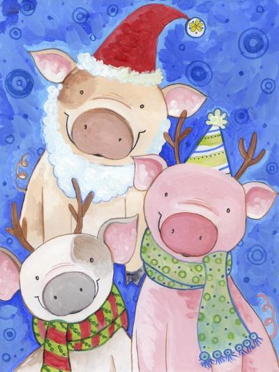 Holiday Hogs-Valarie Wade-Giclee Print