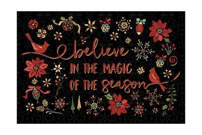Holiday Impressions II Black-Daphne Brissonnet-Art Print