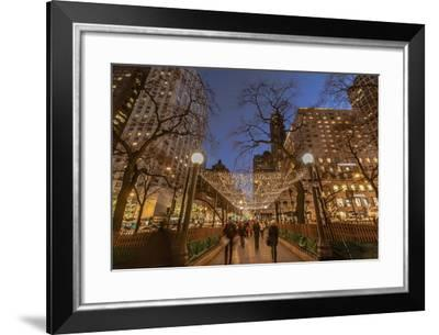 Holiday Lights Along Michigan Avenue in the Magnificent Mile in 2013-Richard Nowitz-Framed Photographic Print