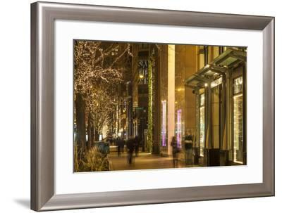 Holiday Lights Along Michigan Avenue's Magnificent Mile-Richard Nowitz-Framed Photographic Print