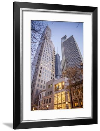 Holiday Lights Along Oak Street, Off Michigan Avenue's Magnificent Mile in 2013-Richard Nowitz-Framed Photographic Print
