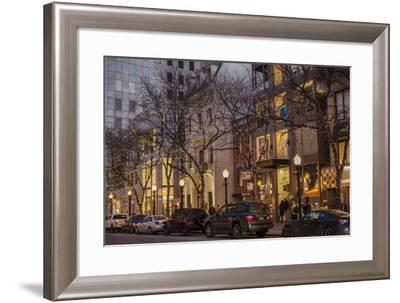 Holiday Lights Along Oak Street, Off Michigan Avenue's Magnificent Mile-Richard Nowitz-Framed Photographic Print