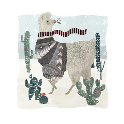 Holiday Llama I-Victoria Borges-Art Print