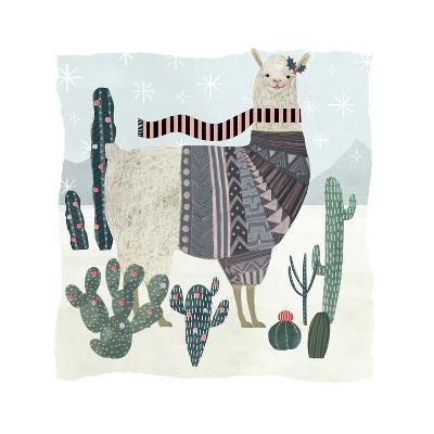 Holiday Llama II-Victoria Borges-Art Print
