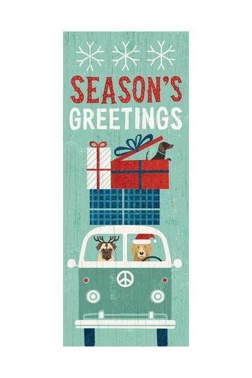 Holiday on Wheels XII Panel-Michael Mullan-Art Print