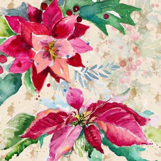 Holiday Poinsettia I-Patricia Pinto-Art Print