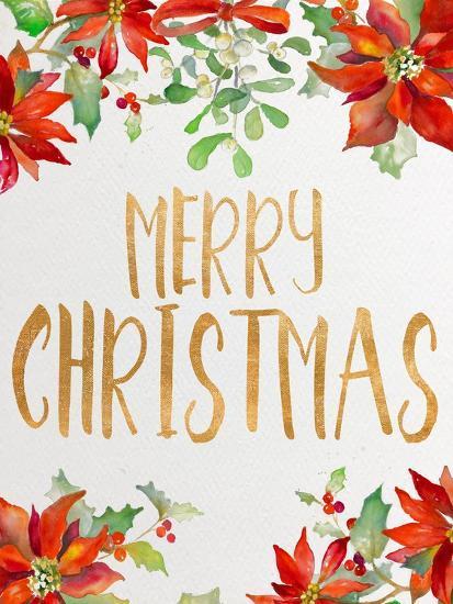 Holiday Poinsettias II-Lanie Loreth-Art Print