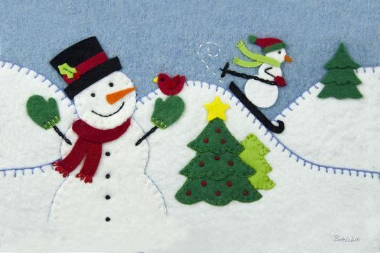 Holiday Snowman-Betz White-Art Print