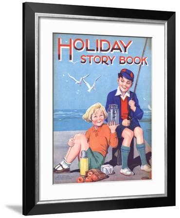 Holiday Story Book, Holiday Fishing, UK, 1950--Framed Giclee Print