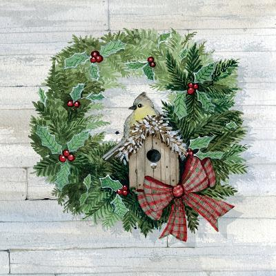 Holiday Wreath III on Wood-Kathleen Parr McKenna-Art Print