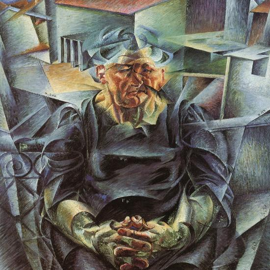 Holizonatal Volumes-Umberto Boccioni-Giclee Print