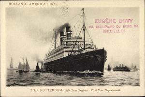 Holland America Line, Hal, T.S.S Rotterdam, Steamer