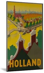 Holland Canal Travel Poster