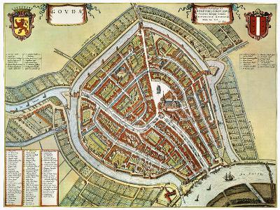 Holland: Gouda Plan, 1649-Jan Blaeu-Giclee Print