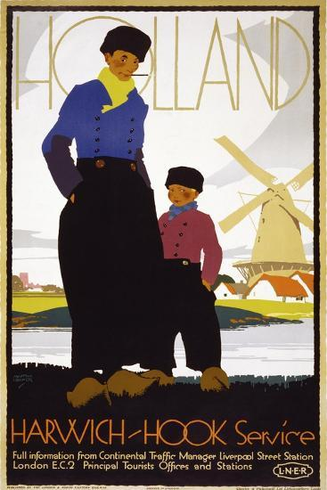 Holland, Harwich-Hook Service--Giclee Print
