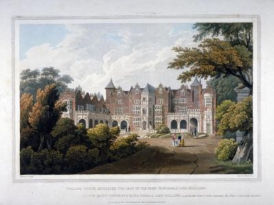Holland House, Kensington, London, 1817-Robert Havell the Elder-Giclee Print