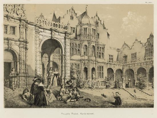 Holland House, Kensington-Joseph Nash-Giclee Print