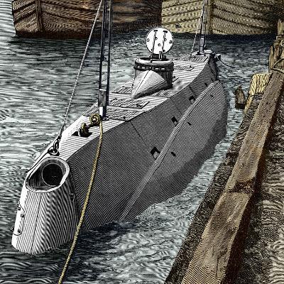 Holland Submarine, New York, 1890s-Sheila Terry-Photographic Print