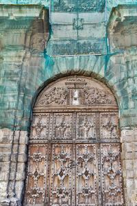 France, Toulouse. Wooden doorway by Hollice Looney