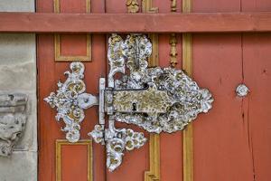 Germany, Dinkelsbuehl, Door Hinge by Hollice Looney