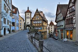 Germany, Rothenburg ob der Tauber, Ploenlein Triangular Place by Hollice Looney