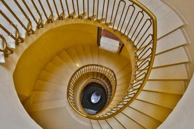 Italy, Radda in Chianti, Tuscany, Spiral Staircase, Villa Campomaggio