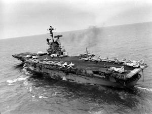 Vietnam War USS Aircraft Carrier by Holloway