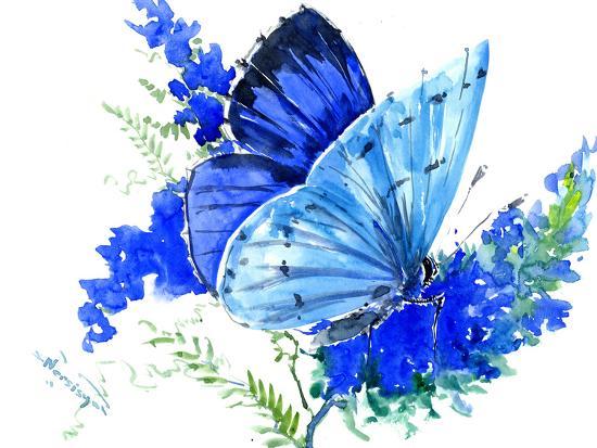 Holly Blue Butterfly 1-Suren Nersisyan-Art Print