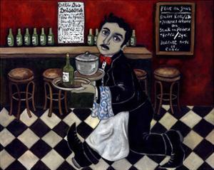 French Waiter I by Holly Wojahn